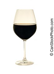 Wine glass over white