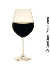 Wine glass over white