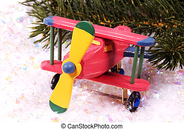 Wooden Plane - Wooden Toy Plane Christmas Gift