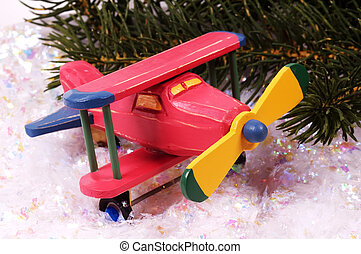 Wooden Plane - Wooden Toy Plane Christmas Gift.