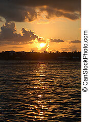 Caribbean sunset at Key West islands, Florida residence of...