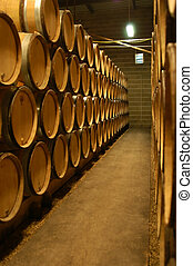 French wine cellar - Bourgogne wine cellar, France