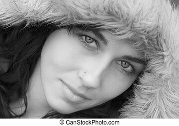 Beautiful Woman - Beautiful winter woman