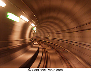 metro01 - low shutter speed picture taken from the metro in...
