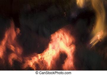 brûler, fond, 4
