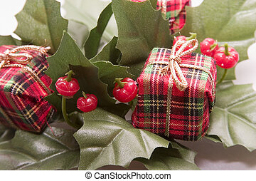 Christmas Decoration - Mistletoe and Presents Christmas...