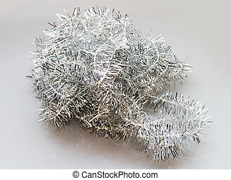 Tinsel christmas decoration detail