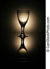 Glass - Empty glass for water and wine