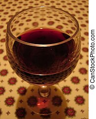 Wine on Tablecloth