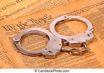 American Justice - Declaration of Independence and Handcuffs...