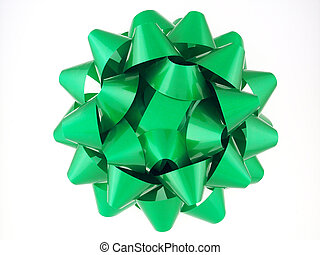 Bow Series - Green 2 - Green gift bow, non metallic