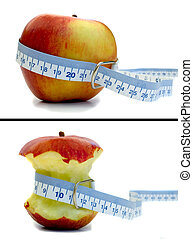 Before and Apple - Weight loss and a healthy diet