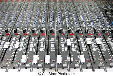 Sound mixer - Controls of a sound board