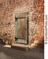 ancient door in Tartu, Estonia