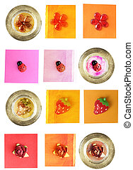 scrapbooking elements - lady-bug, daisy, rose and strawberry...