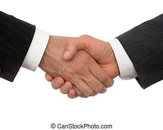 事務, 握手