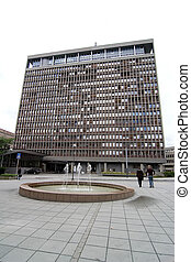 Government Building - The government buildings in Oslo,...