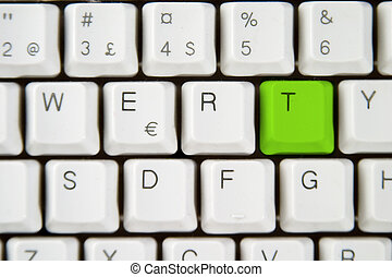 Computer Keyboard Letter T - Isolated letter T on from a...