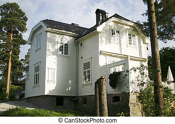 Norstrand Villa - An old house in Oslo, Norway, in the...