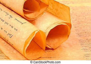 Parchments - Various Rolled Up Parchments