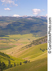 Buffalo, National Bison Range - Photo of a valley, shot at...
