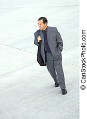 businessman walking - businessman