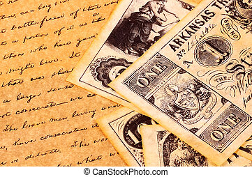Vintage Items - Money and DOcument From 1700s - Civil War...