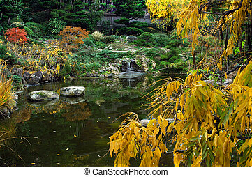 Fall Colors Japanes - Beautiful fall colors in this Japanese...