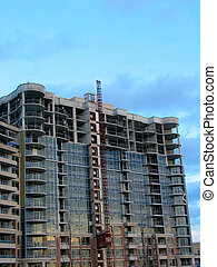 Construction 2 - Tall apartment building under construction...