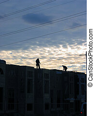 Construction workers 3 - 2 construction workers finishing...