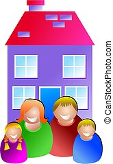 family home - icon people