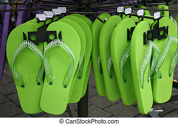 Flip-Flops - green flip-flops