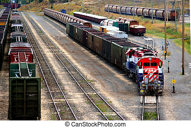 Freight Train - a train yard