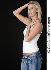 casual fashion - Cute blonde in casual fashion