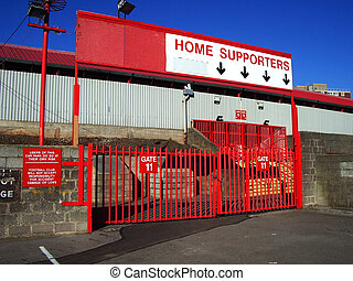 Football ground gate - Gate into English soccer ground.