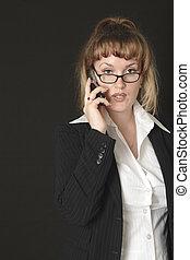 kvinna, affär