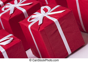 Christmas presents - red Christmas presents