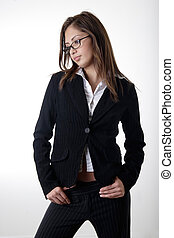 girl business suit - Pretty young girl in business suit