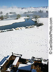 Snow landscape - Snow covered landscape