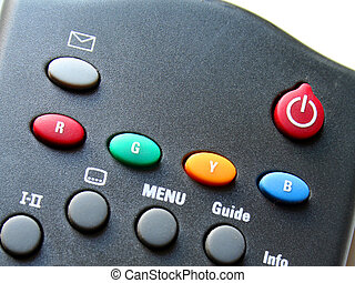 Remote Buttons - Remote of a satellite television