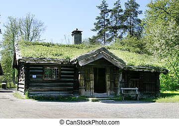 Norwegian Farm House - An old norwegian farm house at the...