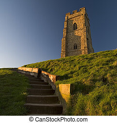Glastonbury Tor located in Somerset England