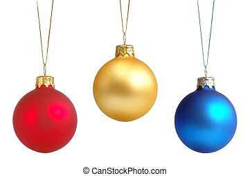 Christmas Balls - Isolated Christmas tree decorations