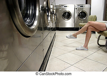 waiting for laundry - waiting for the clothes to dry