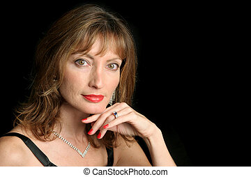 Glamorous Beauty - A beautiful, glamorous woman in an...
