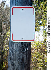 Blank Street Sign on a telephone pole- add your own text...