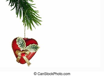 x-mas decoration - a heart-shaped christmas decoration...