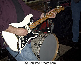 Six String Electric - This is a close-up of an electric...