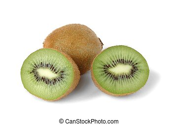 Kiwi Fruits - Kiwi fruits on white