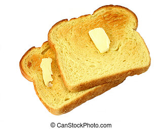 Toast - Two slices of buttered toast
